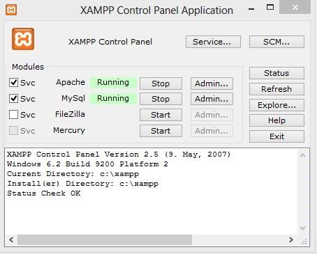 Instalasi Xamp di Localhost5